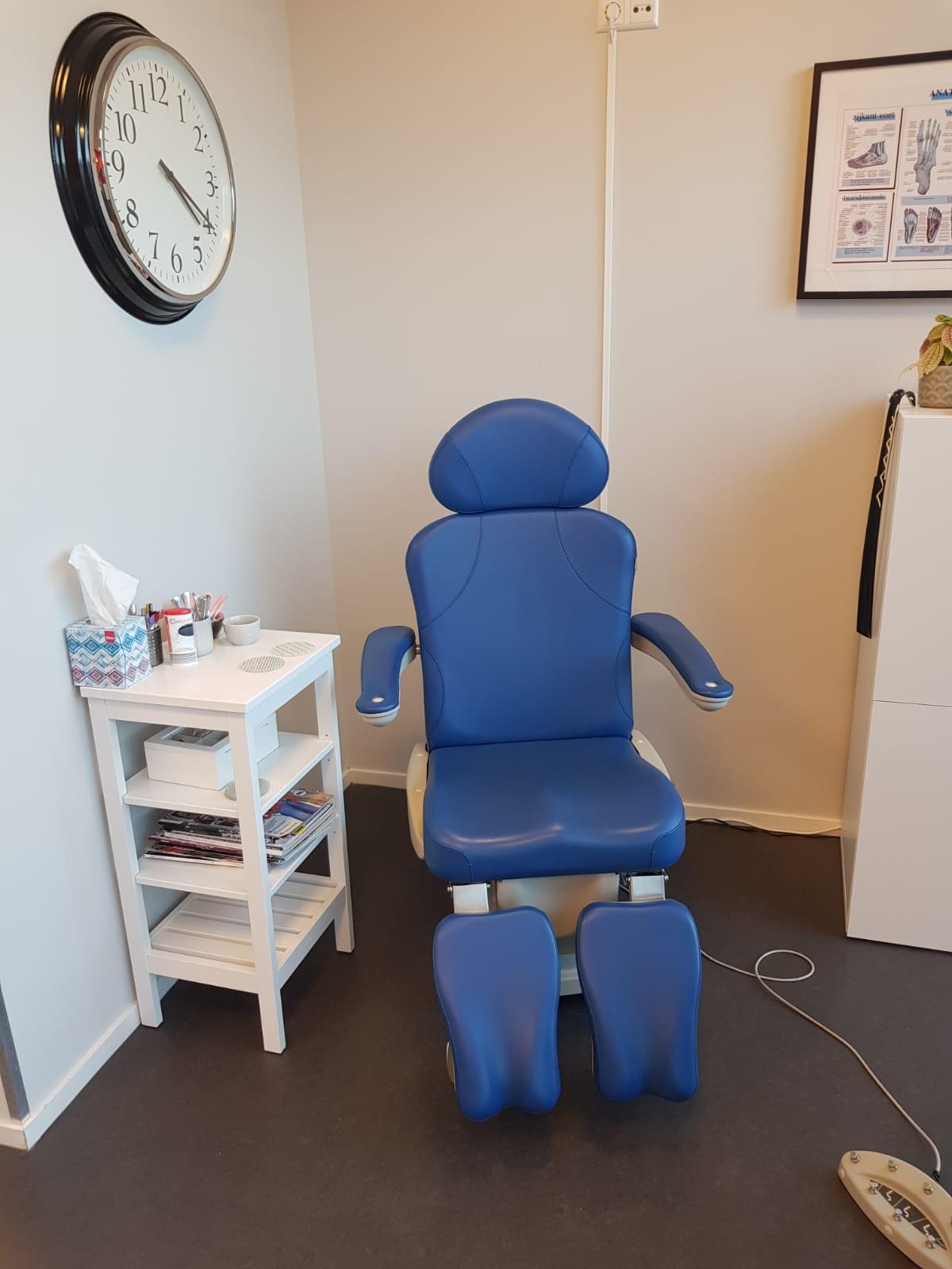 Pedicurepraktijk HappyFeet behandelstoel